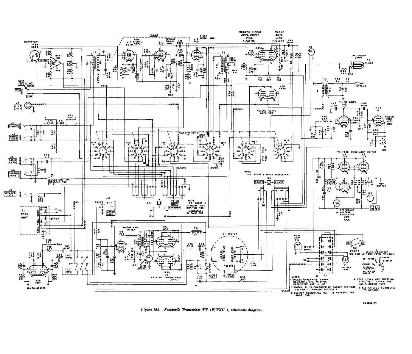 Figure 169 Facsimile Transceiver Tt 1b Txc 1 Schematic Diagram Circuit Privacy Statement Press Release